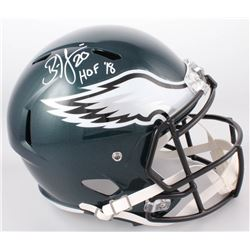 "Brian Dawkins Signed Philadelphia Eagles Full-Size Speed Helmet Inscribed ""HOF '18"" (JSA COA)"