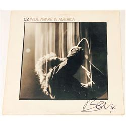 "Bono Signed ""Wide Awake In America"" Vinyl Album Cover (PSA COA)"