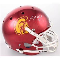 Sam Darnold Signed USC Trojans Custom Red Chrome Full-Size Helmet (Radtke COA)