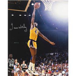 James Worthy Signed Los Angeles Lakers 16x20 Photo (JSA COA)