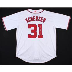 "Max Scherzer Signed Washington Nationals Jersey Inscribed ""CY '13 '16 '17"" (PSA COA)"