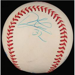 Derek Lowe Signed OAL Baseball (JSA COA)