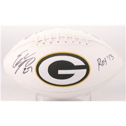 """Eddie Lacy Signed Green Bay Packers Logo Football Inscribed """"ROY 13"""" (JSA COA  Lacy Hologram)"""