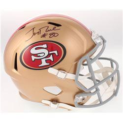 Jerry Rice Signed San Francisco 49ers Full-Size Speed Helmet (Beckett COA)