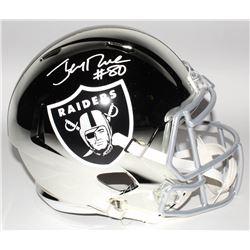 Jerry Rice Signed Oakland Raiders Full-Size Chrome Speed Helmet (Beckett COA)