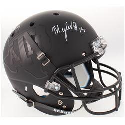 Myles Garrett Signed Texas AM Aggies Full-Size Custom Matte Black Helmet (JSA COA)