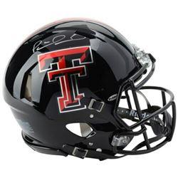 Patrick Mahomes Signed Texas Tech Red Raiders Full-Size Authentic On-Field Speed Helmet (Fanatics Ho
