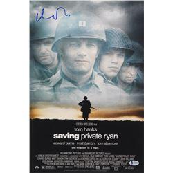 Matt Damon Signed Saving Private Ryan 12x18 Movie Poster Photo (Beckett COA)