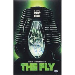 Jeff Goldblum Signed The Fly 11x17 Photo (Beckett COA)