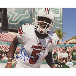 Teddy Bridgewater Signed Louisville Cardinals 8x10 Photo (JSA COA)