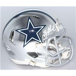 Troy Aikman Signed Dallas Cowboys Chrome Speed Mini-Helmet (Beckett COA)