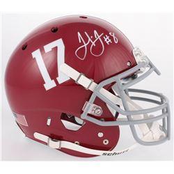 Julio Jones Signed Alabama Crimson Tide Full-Size Authentic On-Field Helmet (JSA COA)