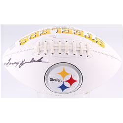 Terry Bradshaw Signed Pittsburgh Steelers Logo Football (JSA COA  Terry Bradshaw Hologram)