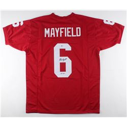 "Baker Mayfield Signed Jersey Inscribed ""'17 H.T."" (Beckett COA)"