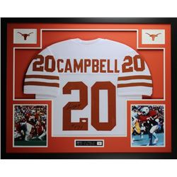 "Earl Campbell Signed 35"" x 43"" Custom Framed Jersey Inscribed ""HT 77"" (JSA COA)"