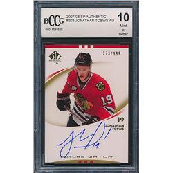 2007-08 SP Authentic #203 Jonathan Toews AU RC (BCCG 10)