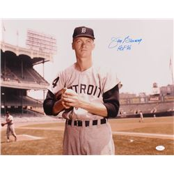 "Jim Bunning Signed Detroit Tigers 16x20 Photo Inscribed ""HOF 96"" (JSA COA)"