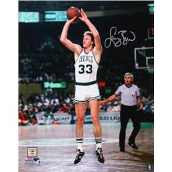 Larry Bird Signed Boston Celtics 16x20 Photo (Beckett Hologram)