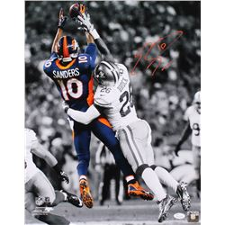 Emmanuel Sanders Signed Denver Broncos 16x20 Photo (JSA COA)
