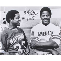 "Earl Campbell  Tony Dorsett Signed 16x20 Photo Inscribed ""HOF 91""  ""HOF 94"" (Beckett COA)"