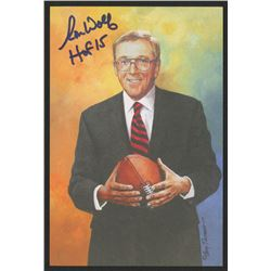 "Ron Wolf Signed 2015 LE 4x6 Pro Football Hall of Fame Art Collection Card Inscribed ""HOF 15"" (JSA CO"