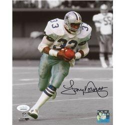 Tony Dorsett Signed Dallas Cowboys 8x10 Photo (JSA COA)