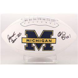 "Jourdan Lewis Signed Michigan Wolverines Logo Football Inscribed ""Go Blue"" (JSA COA)"