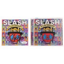 """Slash Signed """"Living The Dream"""" CD Album Case (JSA COA)"""