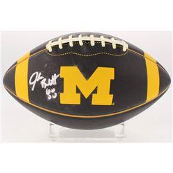 Jake Butt Signed Michigan Wolverines Logo Football (JSA COA)