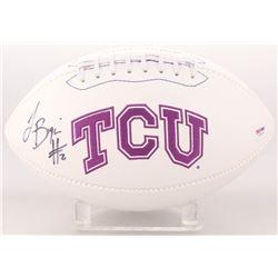 Trevone Boykin Signed TCU Horned Frogs Logo Football (PSA COA)