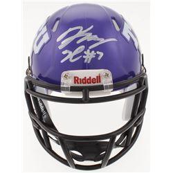 Kenny Hill Signed TCU Horned Frogs Speed Mini Helmet (JSA COA)
