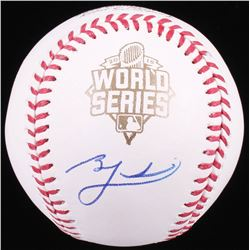 Ben Zobrist Signed 2015 World Series Baseball  (PSA COA)