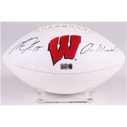 "Melvin Gordon Signed Wisconsin Badgers Logo Football Inscribed ""On Wisconsin!"" (Radtke COA)"