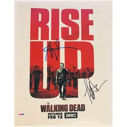 "Andrew Lincoln  Jeffrey Dean Morgan Signed ""The Walking Dead"" 11x14 Photo (PSA COA)"