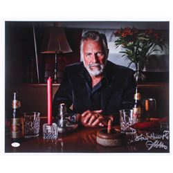 "Jonathan Goldsmith Signed ""The Most Interesting Man in the World"" 17x21 Photo Inscribed ""Stay Thirst"