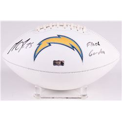 "Melvin Gordon Signed Los Angeles Chargers Logo Football Inscribed ""Flash Gordon"" (Radtke COA)"