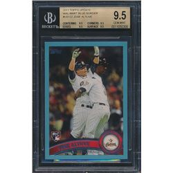 2011 Topps Update Wal-Mart Blue Border #US132 Jose Altuve RC (BGS 9.5)