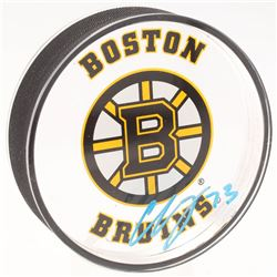 Charlie McAvoy Signed Boston Bruins Acrylic Logo Hockey Puck (Your Sports Memorabilia Store COA)