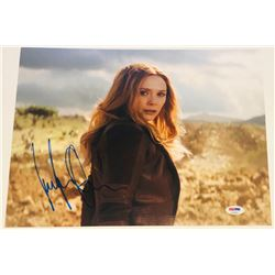 "Elizabeth Olsen Signed ""Avengers"" 11x14 Photo (PSA COA)"