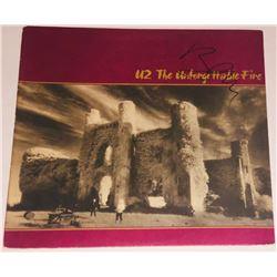 """Bono Signed """"The Unforgettable Fire"""" Vinyl Album Cover (PSA COA)"""
