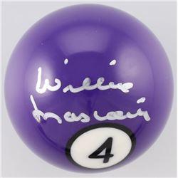 Willie Mosconi Signed #4 Pool Ball (Beckett COA)