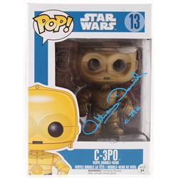 "Anthony Daniels Signed ""Star Wars"" C-3PO #13 Funko Pop! Vinyl Figure Inscribed ""C-3PO"" (Radtke COA)"