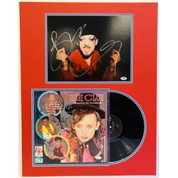 Culture Club 22x28 Custom Matted Record Display Signed by (4) with Boy George, Roy Hay, Mikey Craig