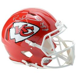 """Patrick Mahomes Signed Kansas City Chiefs Full-Size Authentic On-Field Speed Helmet Inscribed """"18 NF"""