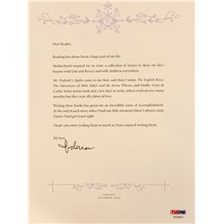 Madonna Signed Letter with Limited Edition 5 Series Children's Bookset (PSA LOA)