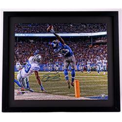 "Odell Beckham Jr. Signed New York Giants ""One-Handed Catch"" 24x28 Custom Framed Limited Edition Phot"