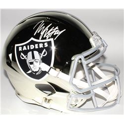 Marshawn Lynch Signed Oakland Raiders Full-Size Chrome Speed Helmet (Radtke COA)