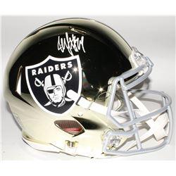 Marshawn Lynch Signed Oakland Raiders Full-Size Authentic On-Field Chrome Speed Helmet (Radtke COA)
