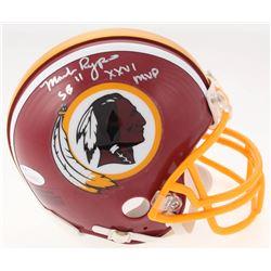 "Mark Rypien Signed Washington Redskins Mini Helmet Inscribed ""SB XXVI MVP"" (JSA COA)"