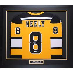 """Cam Neely Signed 35"""" x 43"""" Custom Framed Jersey (JSA COA)"""